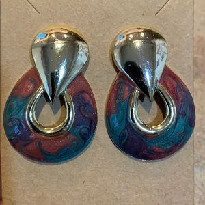 Don Lin signed vintage swirl Art Deco gold tone
